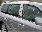 Хромированные накладки на дверные стойки Lexus LX-570