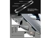 Подножки для Nissan Murano трубообразные 76 мм с площадкой, полир. нерж. сталь