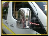 Хромированные накладки на зеркала Volkswagen Crafter