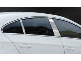 Хромированные накладки на дверные стойки Volkswagen Passat 2010-2012 г.