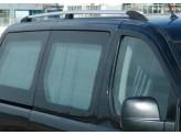 Комплект алюминиевых рейлингов (цвет черный, устанавливаются на силиконовый клей), изображение 2
