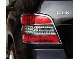 Хромированные накладки на задние фонари Mercedes-Benz GLK