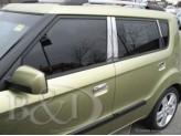 Хромированные накладки на дверные стойки Kia Soul