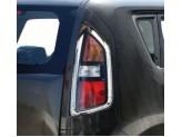 Хромированные накладки на задние фонари Kia Soul
