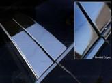 Хромированные накладки на дверные стойки Toyota Landcruiser Prado 150