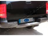 """Хромированная накладка для Volkswagen Amarok на задний бампер с логотипом """"Amarok"""" полир. нерж. сталь"""