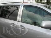 Хромированные накладки на дверные стойки Toyota Sienna