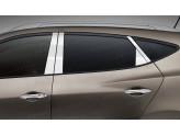 Хромированные накладки на дверные стойки Hyundai iX 35