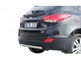Защита заднего бампера для Hyundai iX 35, полир. нерж. сталь.