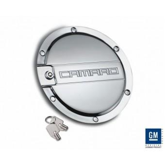 Хромированная крышка бензобака для Chevrolet Camaro (с логотипом CAMARO) с ключом 2010-2015 г.