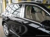 Хромированные накладки на дверные стойки Volkswagen Touareg