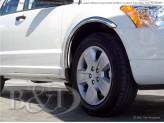 Хромированные накладки для Dodge Avenger на колёсные арки из 6 ч.