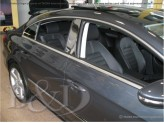 Хромированные накладки на дверные стойки Volkswagen Passat B6/B7/CC