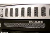 Решетка в передний бампер для Hummer H3, полир. нерж. сталь