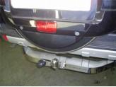 Фаркоп оцинкованный с нержав. двойной накладкой с логотипом для бензиновой версии