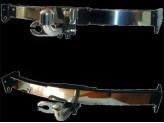 Фаркоп с широкой нерж. пластиной и черным крюком