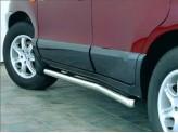Пороги для Hyundai Santa-Fe, полир. нерж. сталь