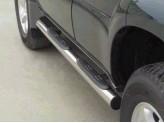 """Пороги для Toyota Landcruiser Prado J12, модель """"Grand Pedane Inox """""""