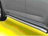 Пороги для Toyota RAV4, труба 63 мм полир. нерж. сталь