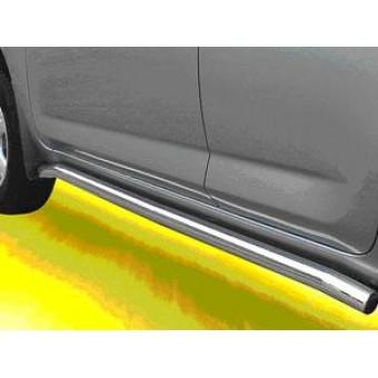 Пороги для Toyota RAV4, труба 63 мм полир. нерж. сталь (короткая база)