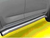 Пороги для  Toyota RAV4, труба 76 мм полир. нерж. сталь
