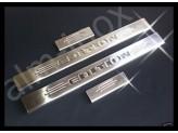 """Хромированные накладки для MAZDA BT-50 на пороги с логотипом """"RANGER"""" марки автомобиля полир. нерж. сталь"""