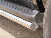 Защита штатного порога для Toyota Landcruiser 200, 60 мм полир.нерж.сталь, изображение 2