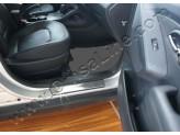 Хромированные накладки для Hyundai iX 35 на дверные пороги с логотипом 4 шт.