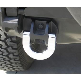 Хромированные буксировочные кольца для Hummer H2 (задние, авиационный алюминий с тройным хромовым покрытием)