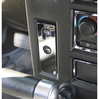 Хромированные накладки для Hummer H2 на панель управления (авиационный алюминий с тройным хромовым покрытием, устанавливается на 3М клей)