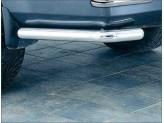 Защита заднего бампера для Hyundai Terracan, полир. нерж. сталь