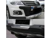 Комплект накладок на передний и задний бампер для Volkswagen Tiguan