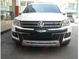 Накладка на передний бампер Volkswagen Tiguan