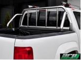 """Защитная дуга """"SEAMAN"""" в кузов пикапа 60 мм с логотипом, полированная нержавеющая сталь"""