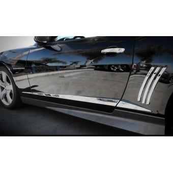 Хромированные накладки Chevrolet Camaro из 6 частей (нерж. сталь, вертикальные накладки на задние крылья в к-т не входят)