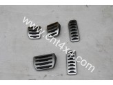 Комплект алюминиевых накладок на педали 3 шт (для механической коробки), изображение 2