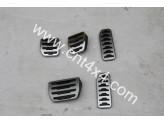 Комплект алюминиевых накладок на педали 2 шт (для автоматической коробки), изображение 2