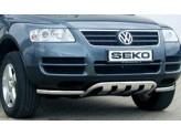 Защита переднего бампера с поперечными пластинами для Volkswagen Touareg