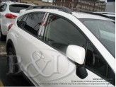 Хромированные накладки на дверные стойки Subaru XV