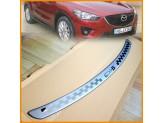 """Хромированная накладка для Mazda CX 5 на задний бампер с логотипом """"CX-5"""""""