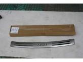 "Хромированная накладка для Lifan X60 на задний бампер с логотипом ""X60"", полир. нерж. сталь."