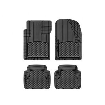 Комплект универсальных резиновых ковриков, цвет черный (можно заказать бежевые и серые)