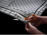 Комплект универсальных резиновых ковриков, цвет черный (можно заказать бежевые и серые), изображение 2