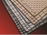 Комплект универсальных резиновых ковриков, цвет черный (можно заказать бежевые и серые), изображение 3