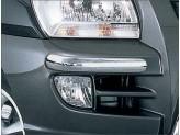 Комплект накладок для Kia Sportage на передний бампер, полир. нерж. сталь