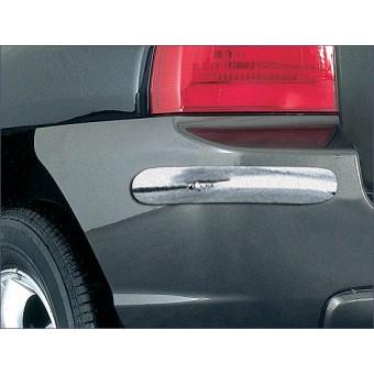 Комплект накладок для Kia Sportage на задний бампер, полир. нерж. сталь (2005-2007)