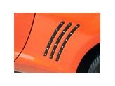 Комплект алюминиевых накладок для Chevrolet Camaro, цвет черный, изображение 2