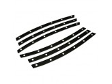 Комплект алюминиевых накладок ,цвет черный
