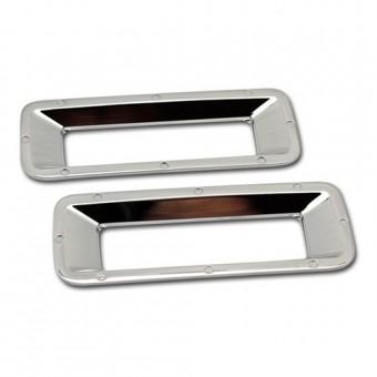 Хромированные накладки для Chevrolet Camaro на задний бампер