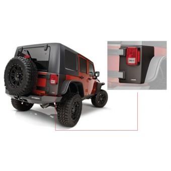 Пластиковые накладки для Jeep Wrangler угловые накладки для 4-х дв. (для 2-х дверного № 14009)